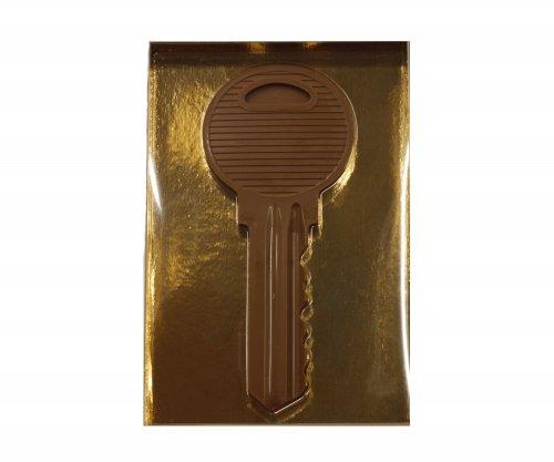 1183 Sleutel groot melk in luxe goud doos