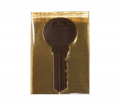 1184 Sleutel groot puur in luxe goud doos