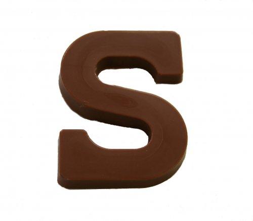 6710 Chocolade Schoenlettertjes S melk