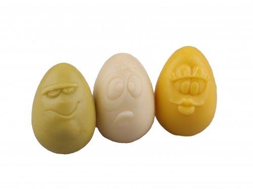 9611 Kinder eitjes assortie wit -geel-groen