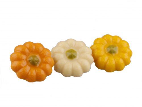 1200 Pompoenen wit-geel-oranje