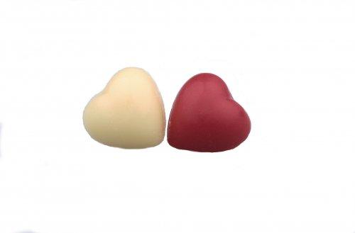 2405 Mini hartjes rood-wit