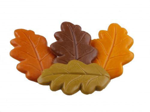 3140 Herfstbladeren 4 kleuren assortie
