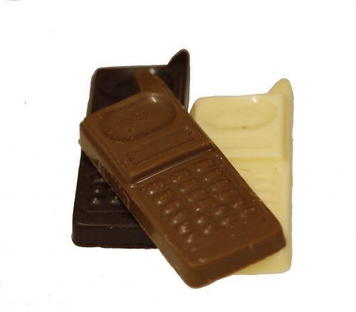 6113 Telefoontjes assortie melk-puur-wit