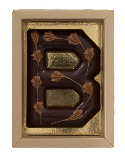 6612 Chocoladeletter (Bamboe)100gr puur