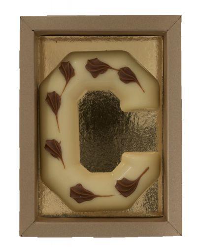 6613 Chocoladeletter (Bamboe)100gr wit
