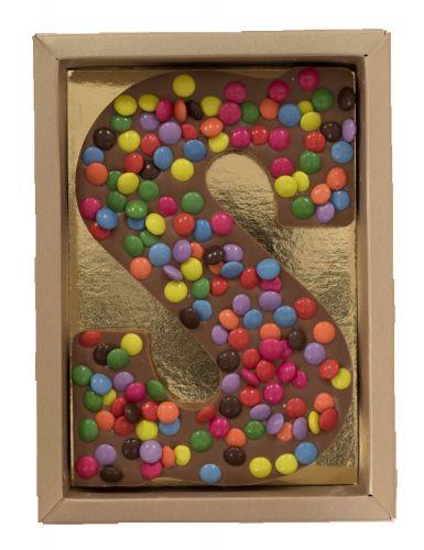 6617 CM **NIEUW** Chocoladeletter S melk choco mini mix