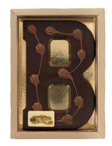 6618 ASL Chocoladeletter (vorm) 200 gr puur ass rechthoek schildje