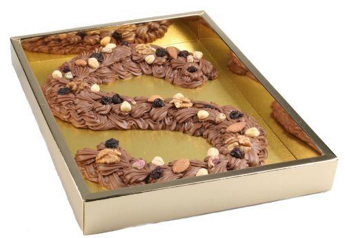 6650 Chocoladeletter (spuit) deco groot 1 kg
