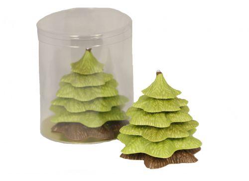 7300 Chocolade kerstboom luxe verpakt groen/melk