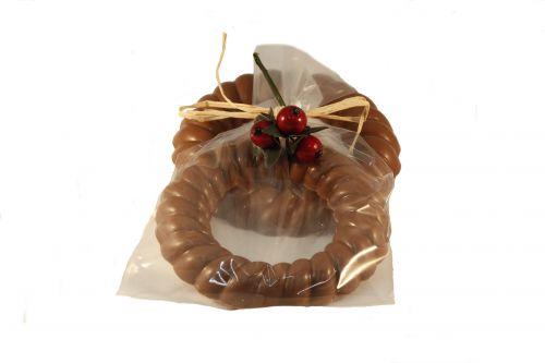 7332 Chocolade krans 70 gram verpakt