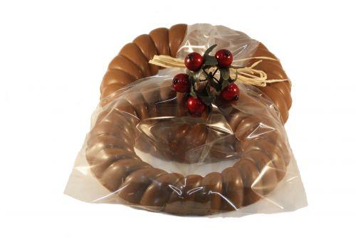 7333 Chocolade krans 150 gram verpakt
