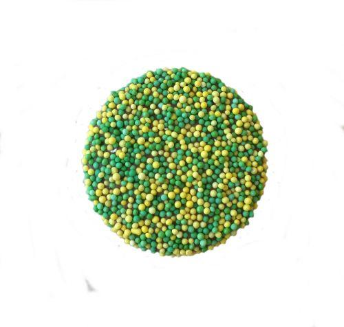 9181 Paasmusket flikken geel/groen