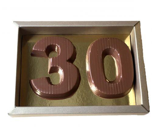 1404 Cijfer klein 2 st. verpakt in luxe goud doos