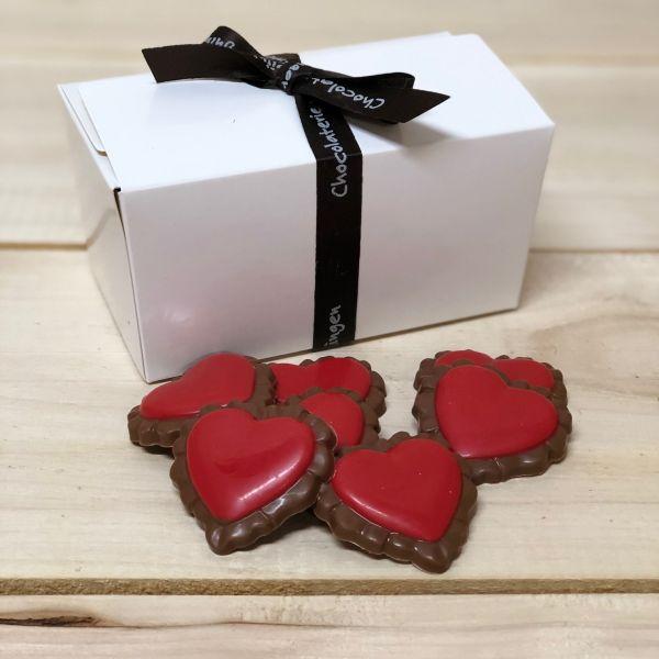 Doosje met barok hartjes 250 gram