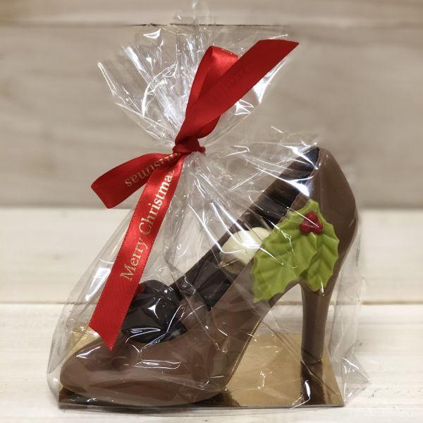 Chocolade kerst pump met bonbons