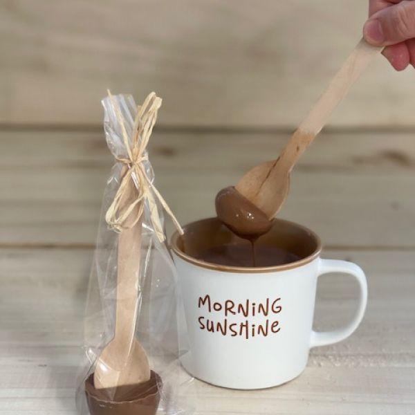 Chocolademelk lepel